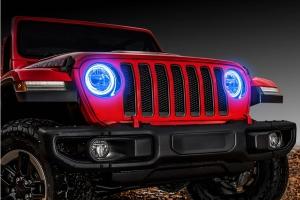 Oracle LED Headlight Surface-Mount Halo Kit - Blue - JT/JL