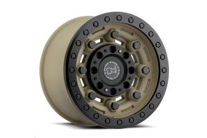 Black Rhino Garrison Beadlock Wheel 17x8.5 5x5 Desert Sand (Part Number: )