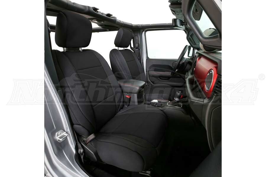 Smittybilt Neoprene Seat Cover Set Front/Rear Black - JL 4dr Non-Rubicon