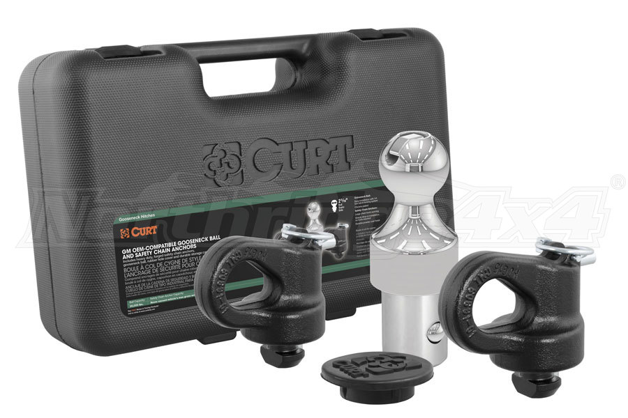Curt Manufacturing OEM Puck System Gooseneck Ball and Safety Chain Anchor Kit (Part Number:60692)