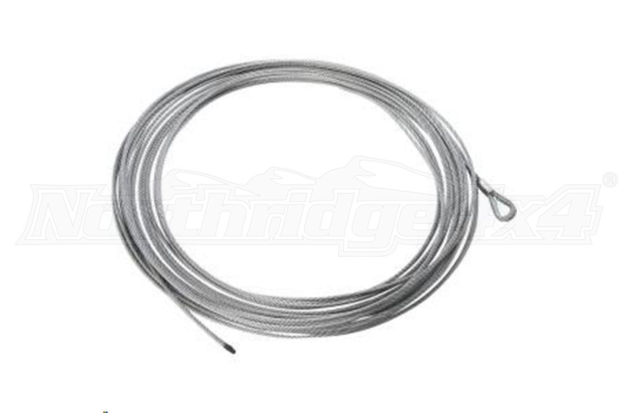 Rugged Ridge Steel Winch Cable 23/64Inx94ft (Part Number:15103.02)