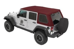 Bestop Trektop Pro Hybrid Soft Top, Red - JK 4dr