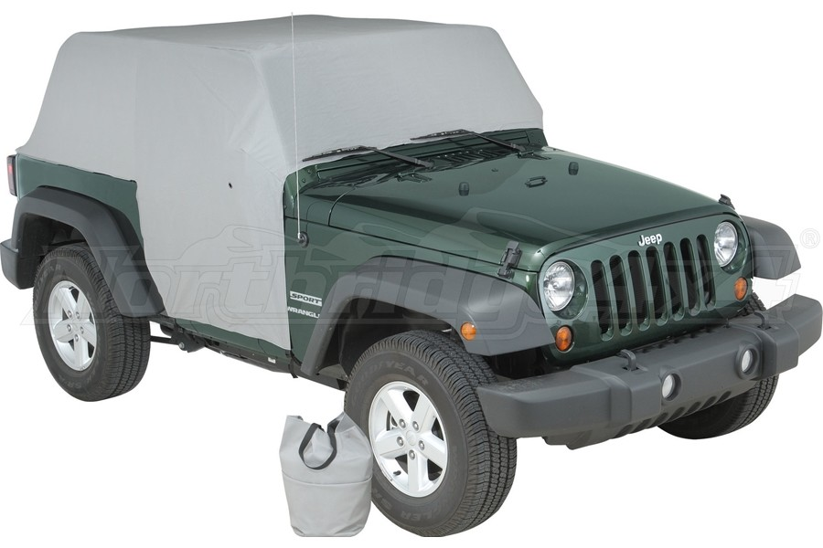 Vertically Driven Products Full Monty Cab Cover w/Half Door Earys Grey - JK 2Dr