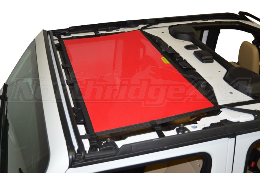 Dirty Dog 4x4 Sun Screen Front - Red - JL