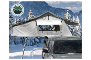 OVerland Vehicle Systems Nomadic 3 Extended Roof Top Tent – White Base With Dark Grey Rain Fly & Black Cover