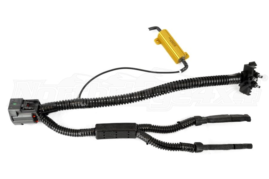 jeep jk poison spyder led tail light harness drivers side