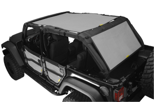 Dirty Dog 4x4 Sun Screen 2 Piece Front Back and Rear Grey - JK 4dr