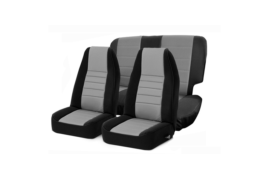 Smittybilt  Neoprene Front and Rear Seat Covers Charcoal  (Part Number:471822)