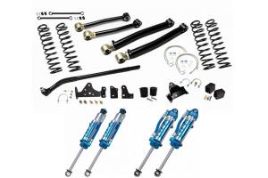 EVO Manufacturing 3in Enforcer Stage 2 Lift Kit w/ Draglink Flip Kit and King Shocks - JK