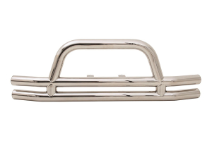 Smittybilt Tubular Front Bumper w/Hoop Stainless Steel (Part Number: )