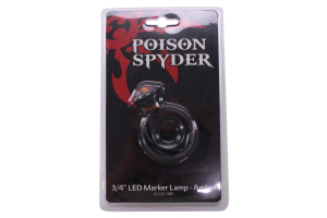 Poison Spyder 3/4in LED Marker Lamp, Amber