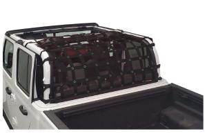 Dirty Dog 4x4 Rear Seat Netting, Black - JT