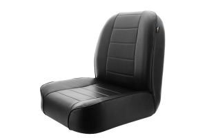 Rugged Ridge Low-Back Front Bucket Seat, Black  (Part Number: 13400.01)