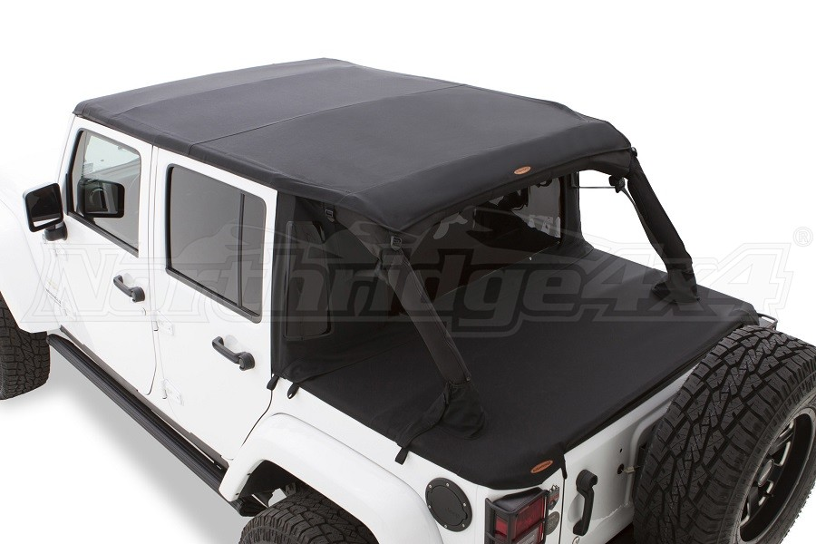 Bushwacker Trail Armor Soft Top, Twill Flat Back - JK 4Dr