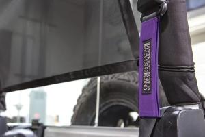 SpiderWebShade Seatbelt Silencers - Purple - JK 2Dr