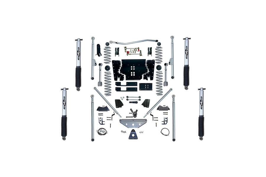 Rubicon Express 4.5in Extreme Duty Long Arm Lift Kit w/Rear Tri-Link & Mono Tube Shocks - TJ 2003-06
