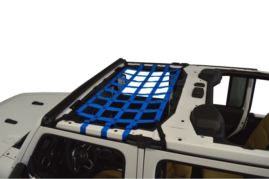 Dirty Dog 4x4 Front Seat Netting, Blue - JL 4Dr