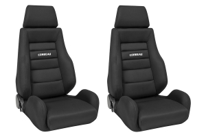 Corbeau GTS II Black Cloth Seat Pair