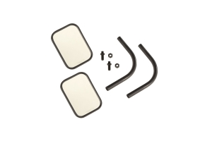 Rugged Ridge Rectangular Trail Mirror Kit, Pair  - JT/JL