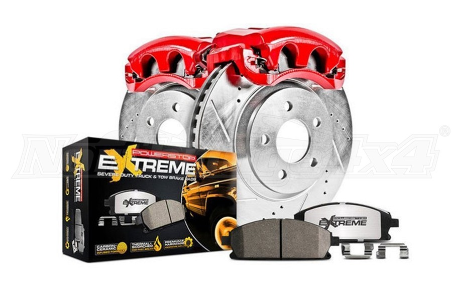 Power Stop Z36 Front Truck and Tow Brake Kit w/Calipers - JL