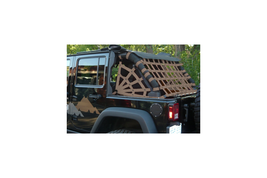 Dirty Dog 4x4 Spider Netting Rear Sand (Part Number:J4NN07RSSD)