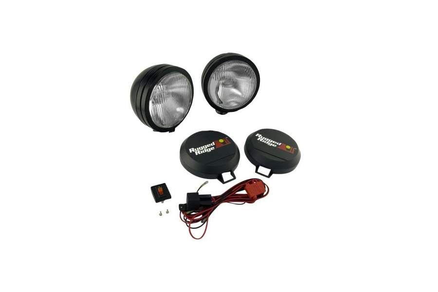Rugged Ridge HID Fog Light Kit 5in Black