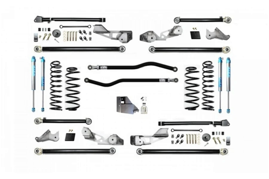 Evo Manufacturing HD 4.5in High Clearance PLUS Long Arm Lift Kit w/ King 2.0 Shocks - JL 4Dr