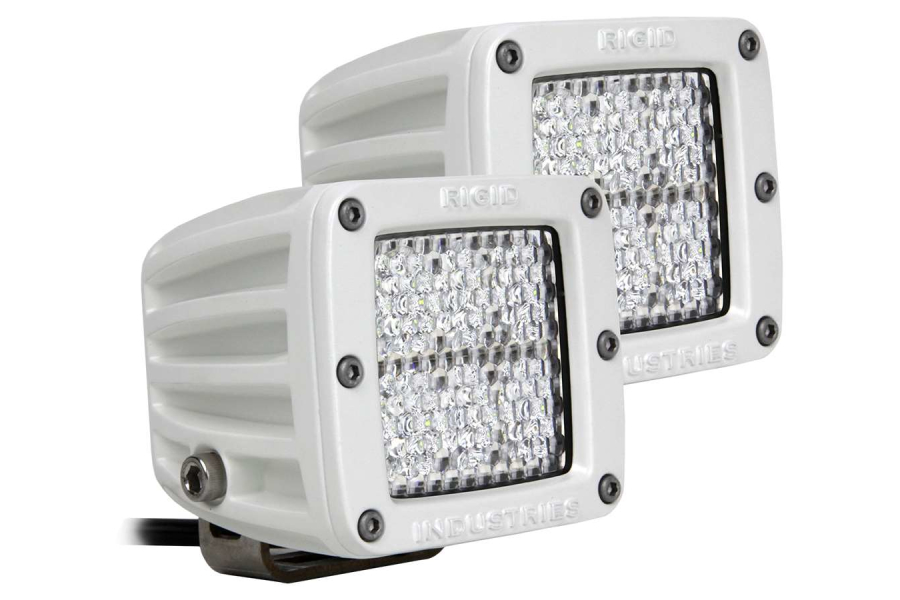 Rigid Industries M-Series Dually D2 LED Lights Diffused, Pair (Part Number:702513)