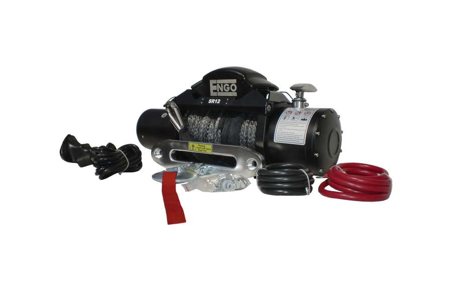 ENGO SR Series Winch w/Synthetic Rope 12,000lb (Part Number:97-12000S)