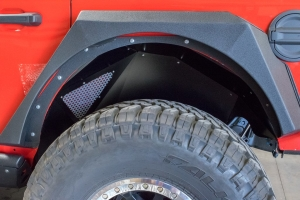 DV8 Offroad Rear Inner Fenders, Black (Part Number: )
