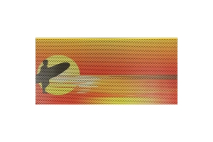 Under The Sun Inserts Endless Summer Orange Surfer Male Grill Insert (Part Number: )