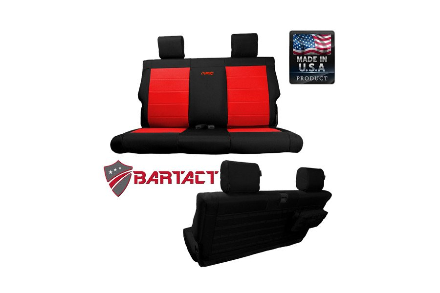 Bartact Rear Bench Seat Cover  (Part Number:JKSC0710R2B)