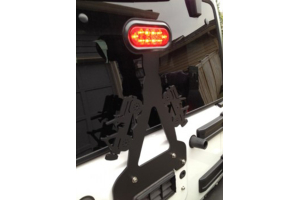 WD Automotive Fixed 3rd Brake Light Mount w/ LED Light - JK/TJ/LJ