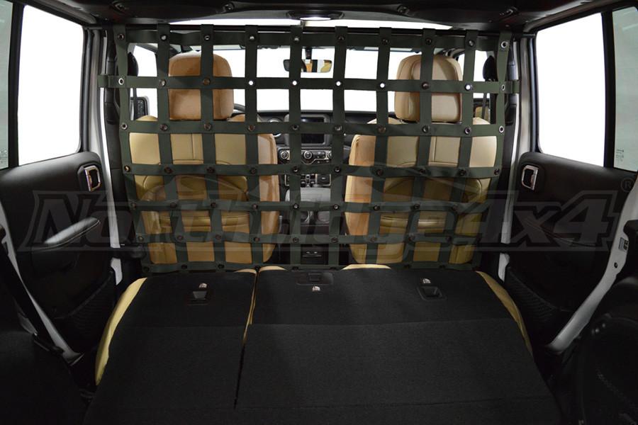 Dirty Dog 4X4 Cargo/Pet Divider Olive Drab Green - JL 4dr