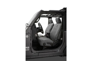 Bestop Front Seat Covers, Charcoal - JL 2Dr