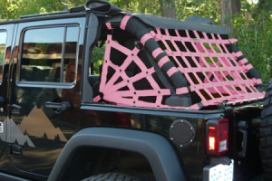 Dirty Dog 4x4 Spider Netting Rear Pink - JK 4dr