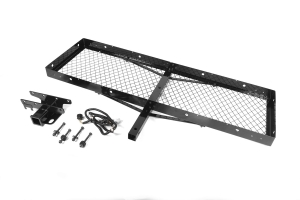 Rugged Ridge Receiver Hitch With Cargo Rack - TJ/YJ