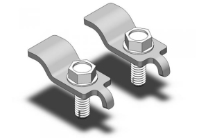 Clayton Stainless Steel Front Spring Retainers (Part Number: )
