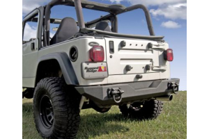 Rugged Ridge XHD Rear Bumper Textured Black - TJ/LJ/YJ/CJ