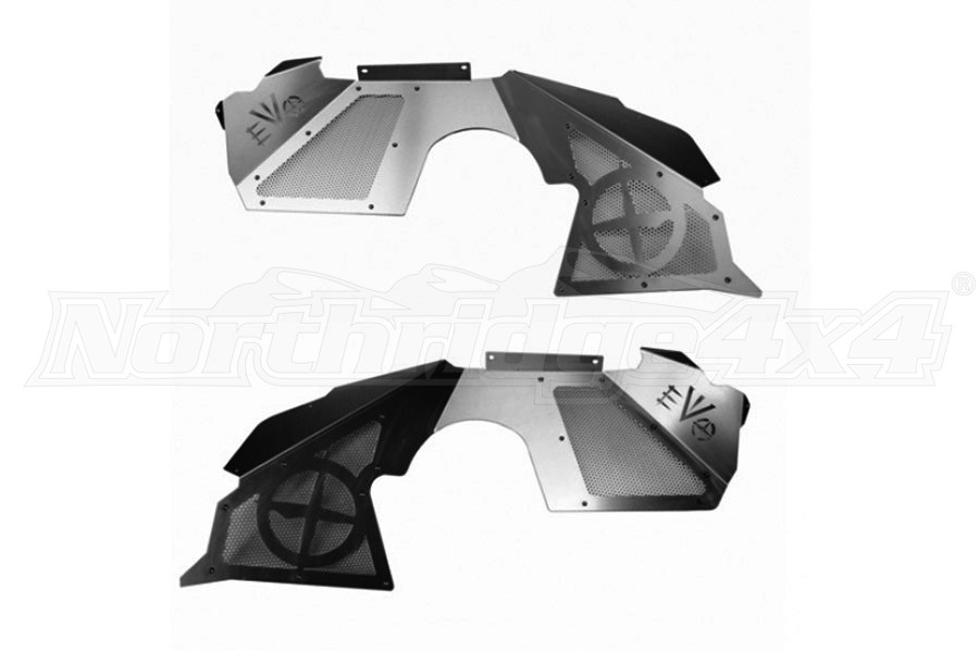 EVO Manufacturing Front Vented Inner Fenders, W/ Double Throwdown Suspension (Part Number:1199)