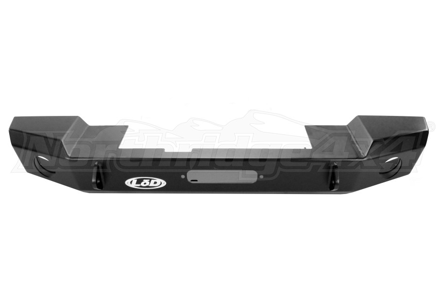 LOD Signature Series Mid-Width Front Bumper w/NO GUARD Black Powder Coated - JK