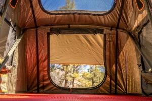 Roam Vagabond Rooftop Tent w/Annex - Forest Green/Hyper Orange