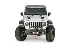 Warn Elite Series Stubby Front Bumper with Tube  (Part Number: )