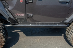 DV8 Offroad Body & Frame Mounted Rock Sliders - JL 2dr