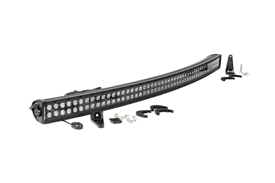 Rough Country 54in Black Series Dual Row Curved Light Bar (Part Number:72954BL)