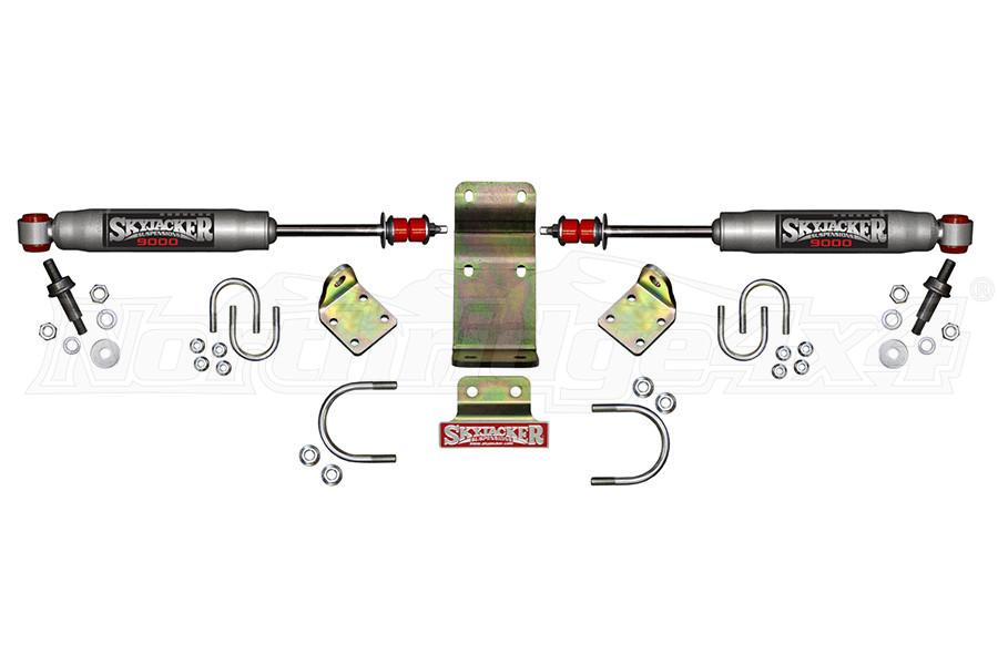 Skyjacker High Clearance Dual Steering Stabilizer Kit - Silver - JT/JL
