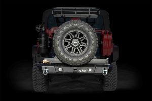 LOD Signature Series Armor Lite Gen 4 Shorty Rear Bumper w/Tire Carrier and Rigid Light Cut Outs Black ( Part Number: LODJBC0755)