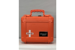 Outer Limit Supply Waterproof Individual First Aid Kit - Orange Case