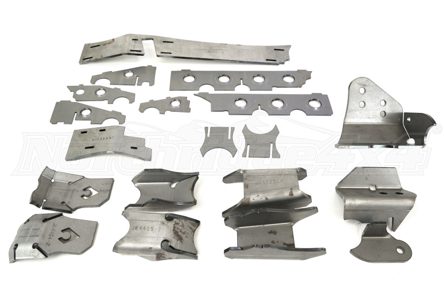Artec Industries Raised Trackbar Bracket Front Axle Armor Kit - JK Rubicon