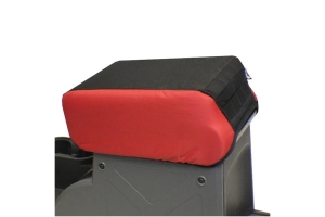 Bartact 2in Padded Center Console Cover - Black/Red - JK 2007-10